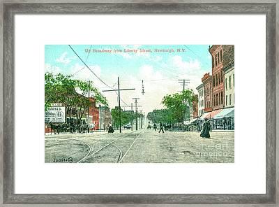 Newburgh Broadway - 09 Framed Print