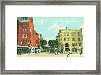 Newburgh Broadway - 10 Framed Print