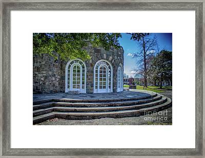 Newburgh Downing Park Shelter House Side View Framed Print