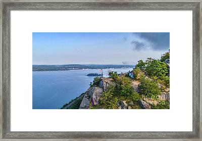 Newburgh From Breakneck Ridge Framed Print