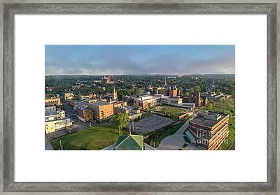 Newburgh New York At Sunrise Framed Print