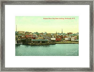 Newburgh Steamers Ferrys And River - 15 Framed Print