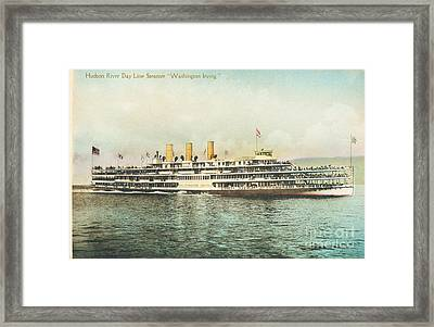 Newburgh Steamers Ferrys And River - 30 Framed Print