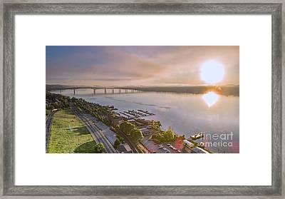 Newburgh Waterfront At Sunrise 3 Framed Print