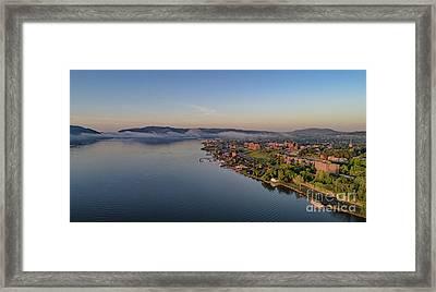 Newburgh Waterfront At Sunrise Framed Print