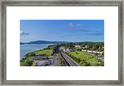 Newburgh Waterfront Looking South 4 Framed Print