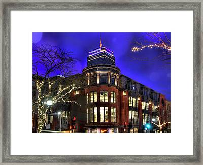 Framed Print featuring the photograph Newbury Street And The Prudential - Back Bay - Boston by Joann Vitali