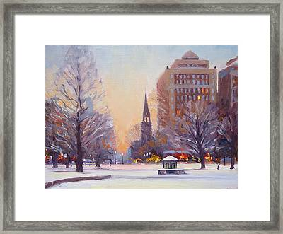 Newbury Twilight Framed Print