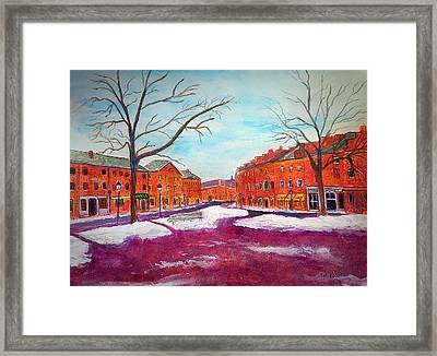 Newburyport Ma In Winter Framed Print