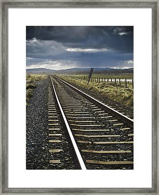 Newcastle Line Framed Print by Gary Rowe