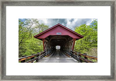 Newfield Covered Bridge Framed Print by Stephen Stookey