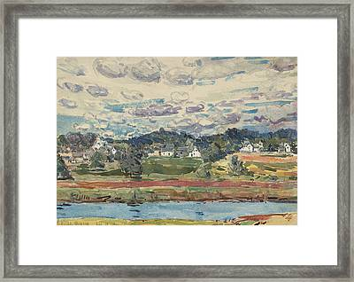 Newfields, New Hampshire Framed Print