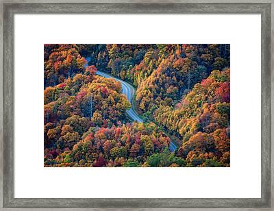 Newfound Gap Framed Print by Rick Berk