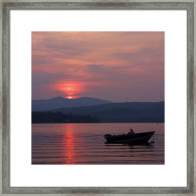 Newfound Lake, Nh Framed Print by Jerry LoFaro