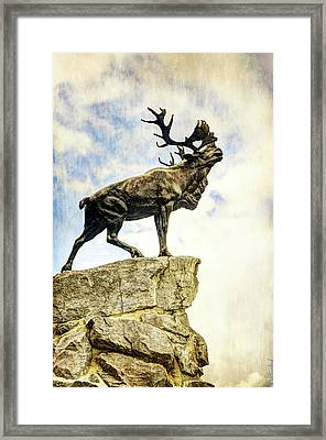 Newfoundland Caribou At Beaumont-hamel - Vintage Version Framed Print by Weston Westmoreland