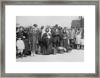 Newly Arrived European Immigrants Framed Print by Everett