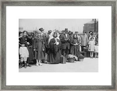 Newly Arrived European Immigrants Framed Print