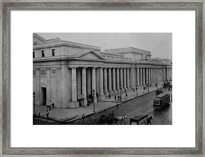 Newly Built Pennsylvania Station Framed Print by Everett