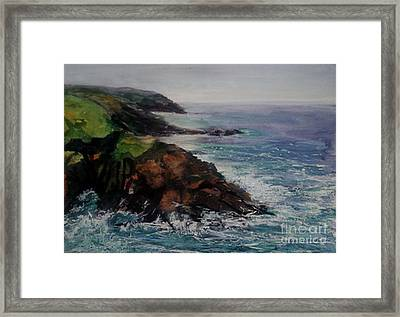 Newlyn Cliffs 2 Framed Print