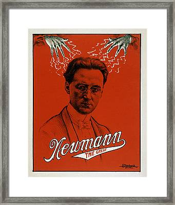 Newmann The Great - Vintage Magic Framed Print by War Is Hell Store