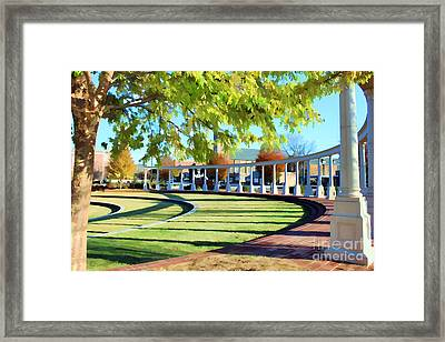 Framed Print featuring the photograph Newnan Park Ampitheatre by Roberta Byram