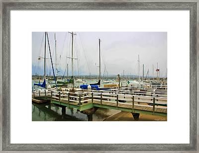 Newport Bay And Balboa Island Framed Print by Heidi Smith