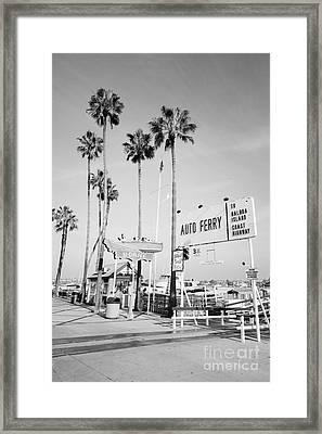 Newport Beach Ferry Entrance Photo Framed Print by Paul Velgos