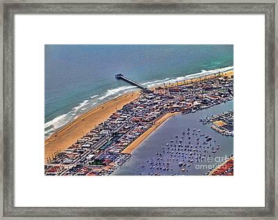 Newport Beach Flyover Framed Print