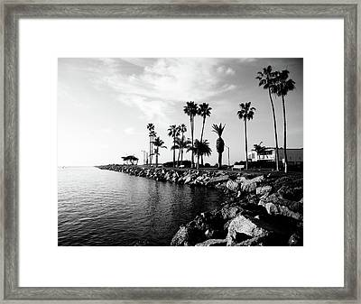 Newport Beach Jetty Framed Print