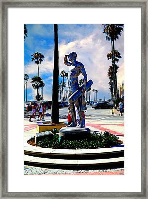 Newport Beach - Pier Entryway Framed Print by Glenn McCarthy Art and Photography