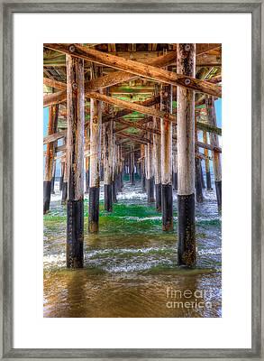 Newport Beach Pier - Summertime Framed Print by Jim Carrell