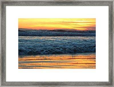 Newport Beach Sunset 1 Framed Print by Habib Ayat