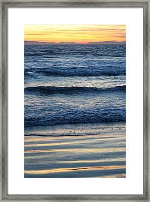 Newport Beach Sunset 2 Framed Print by Habib Ayat