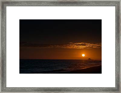 Newport Beach Sunset Framed Print