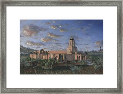 Newport Beach Temple Framed Print by Jeff Brimley