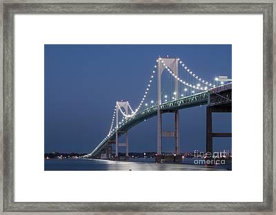 Newport Bridge Blues Framed Print by Juli Scalzi