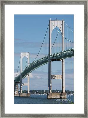 Newport Bridge Framed Print by Juli Scalzi