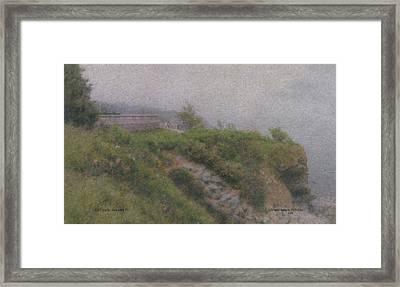Newport Cliff Walk In The Fog Framed Print