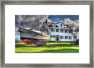 Newport Coast Guard Station Framed Print