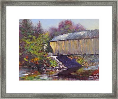 Newport Covered Bridge Framed Print by Ken Fiery