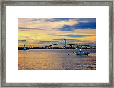 Newport Harbor 2 Framed Print