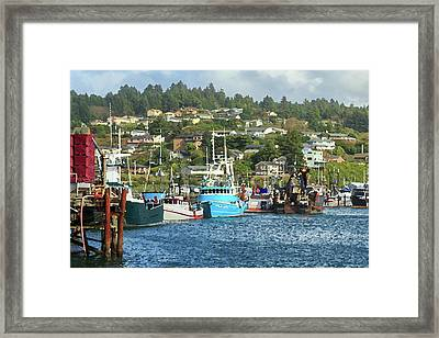 Framed Print featuring the digital art Newport Harbor by James Eddy