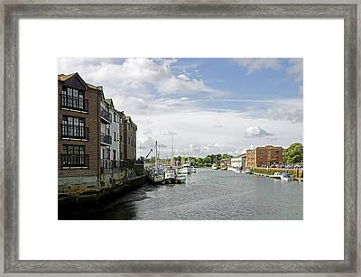 Newport Harbour Iow Framed Print