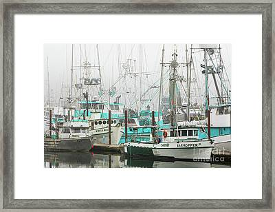 Newport, Oregon Fishing Fleet Framed Print by Jerry Fornarotto
