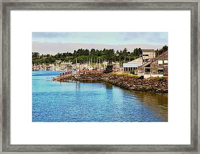 Newport Oregon Marina Framed Print