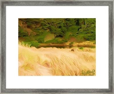 Framed Print featuring the painting Newport Oregon Tidal Pool by Shelley Bain