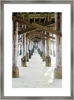 Newport Pier At Sunset In Orange County 2 Framed Print by Ariane Moshayedi