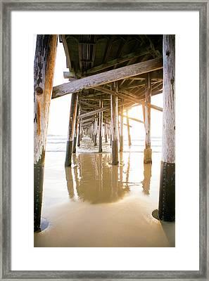 Newport Pier At Sunset In Orange County 3 Framed Print by Ariane Moshayedi