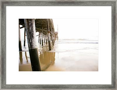 Newport Pier At Sunset In Orange County 5 Framed Print by Ariane Moshayedi