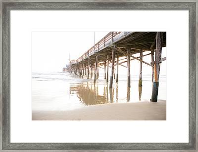 Newport Pier At Sunset In Orange County 6 Framed Print by Ariane Moshayedi